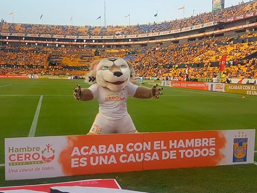 Tigres de la UANL apoya la iniciativa Hambre Cero Nuevo León.