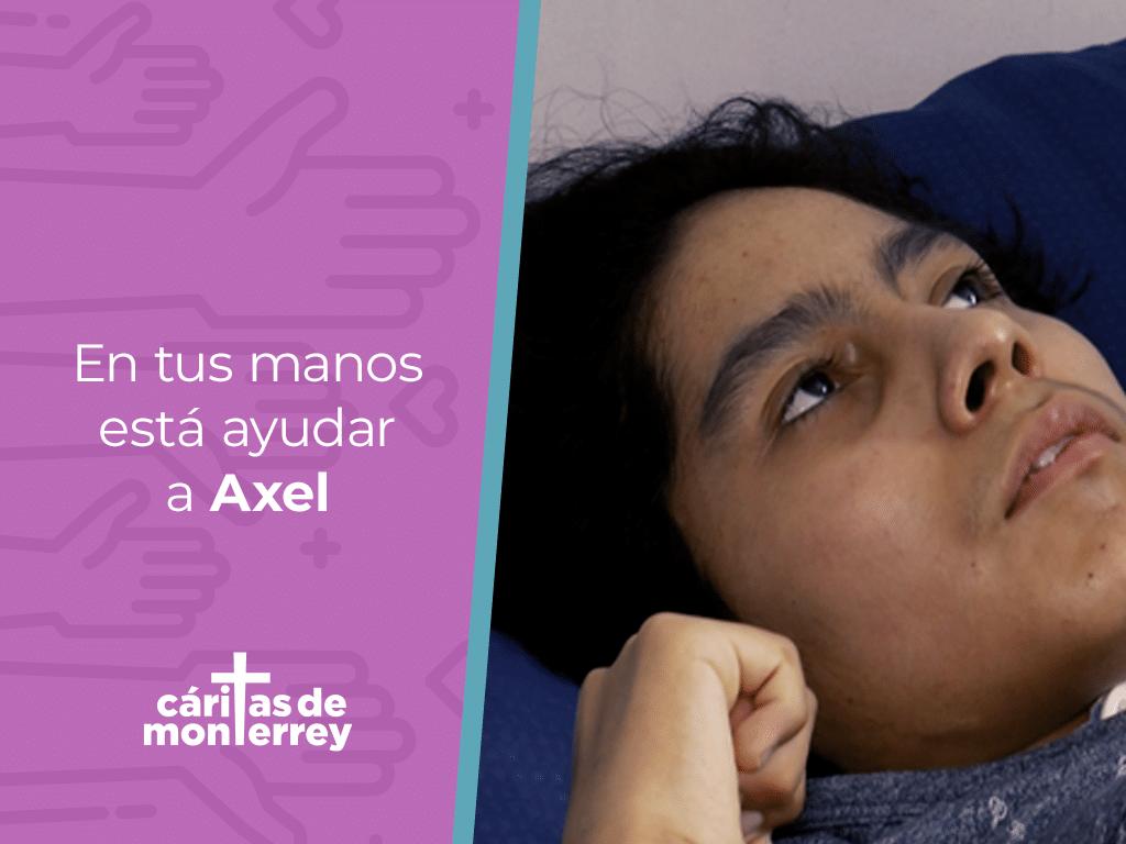Contribuye con un donativo para adquirir el material de curación que Axel necesita