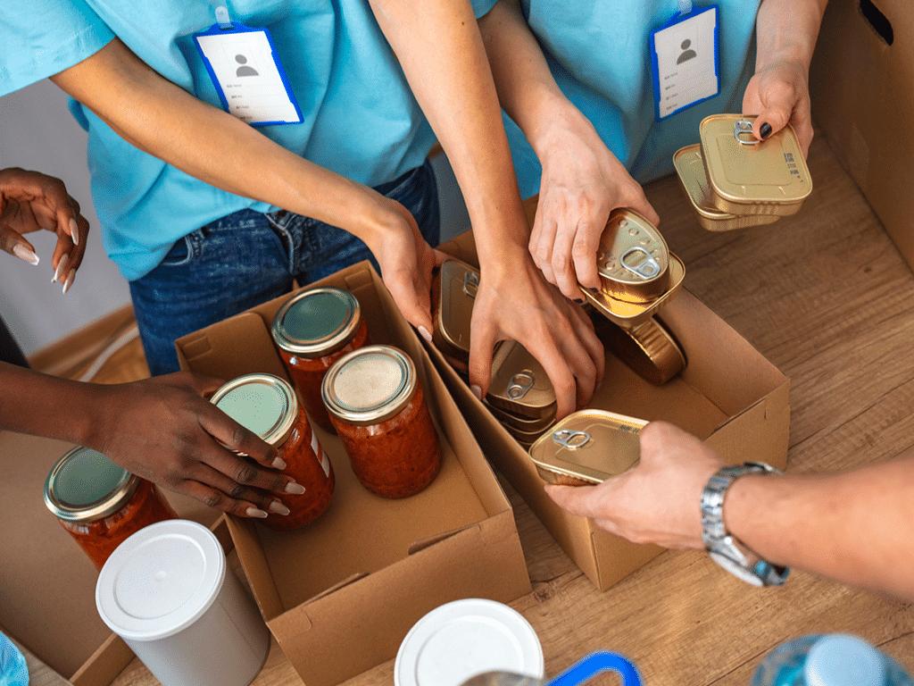 Actividades a distancia para ayudar como voluntario a combatir el hambre en N.L.